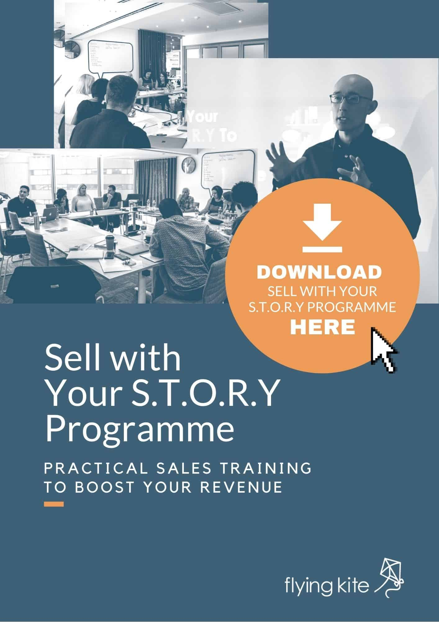Flying Kite Sell with your story programme cover 2021