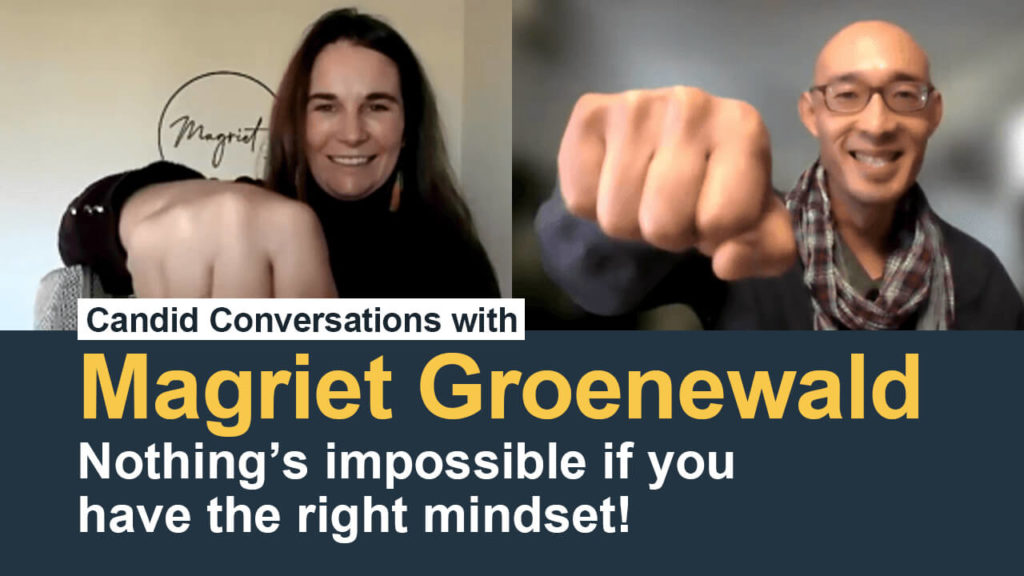 Magriet Groenewald Nothing is impossible if you have the right mindset Podcast with Charles Hsuan FlyingKite